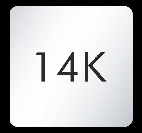 14K White Gold