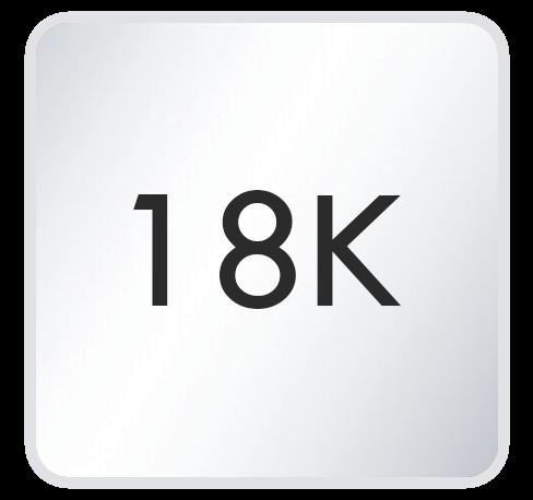 18K White Gold