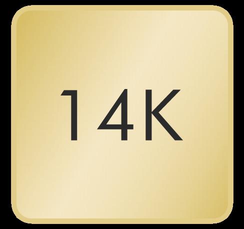 14K Yellow Gold