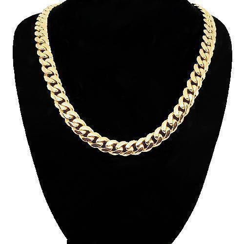 14K-Yellow-Solid-Gold-Mens-Cuban-Chain-5-5-mm-18-Inches---50-9-grams