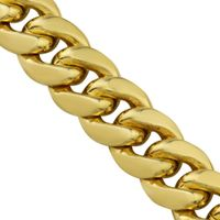 14k Yellow Gold Solid Cuban Link Chain 13.5 mm