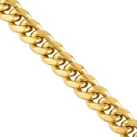 10k Yellow Solid Gold Cuban Link Chain 8 mm