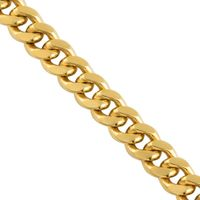 Yellow 10k Solid Gold Cuban Link Chain 6 mm