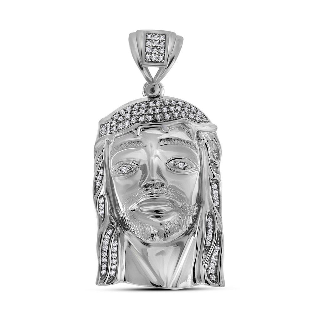 sterling-silver-mens-round-diamond-jesus-christ-messiah-religious-charm-pendant-3-8-cttw-90755