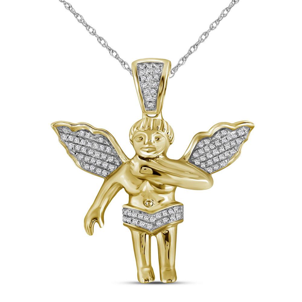 10k-yellow-gold-mens-diamond-polished-3d-guardian-angel-cherub-charm-pendant-1-6-cttw-98966