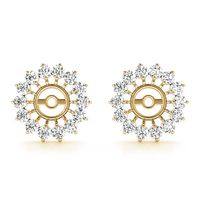 14K Yellow Gold Jackets Diamond Earring