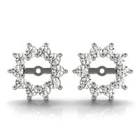 14K White Gold Jackets Diamond Earring