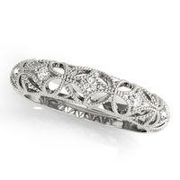 14K White Gold Anniversary Ring