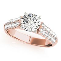 18K Rose Gold Designer Diamond Engagement Ring