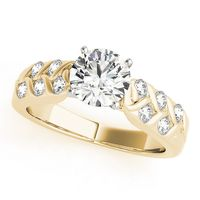 14K Yellow Gold Multirow Diamond Engagement Ring