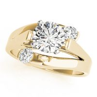 14K Yellow Gold Solitaires Diamond Engagement Ring