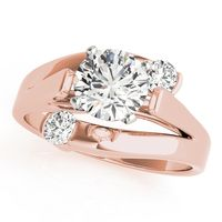 14K Rose Gold Solitaires Diamond Engagement Ring