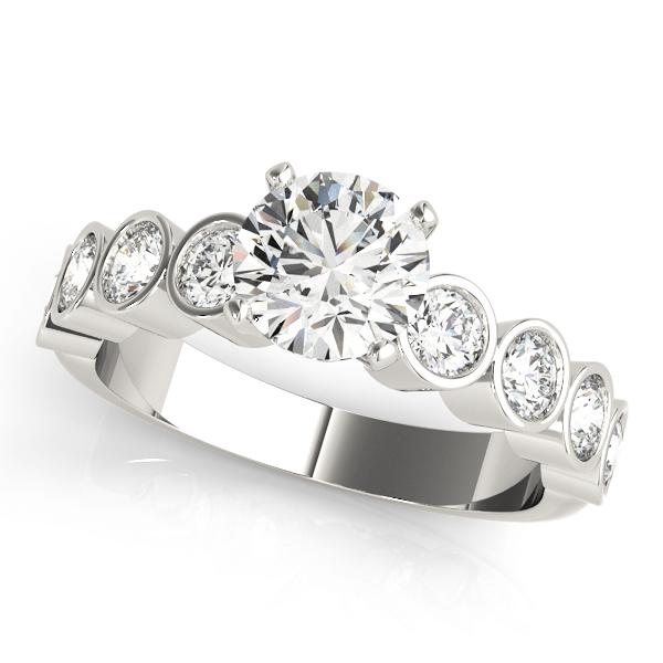 platinum-single-row-diamond-engagement-ring-50387-E-A