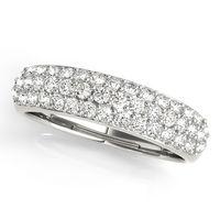 14K White Gold Pave Diamond Wedding Ring