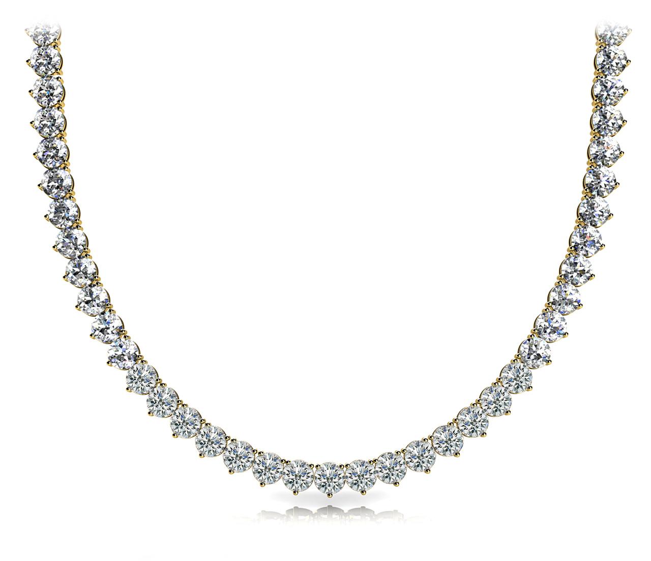 14k-yellow-gold-eternity-diamond-necklace-60024-10
