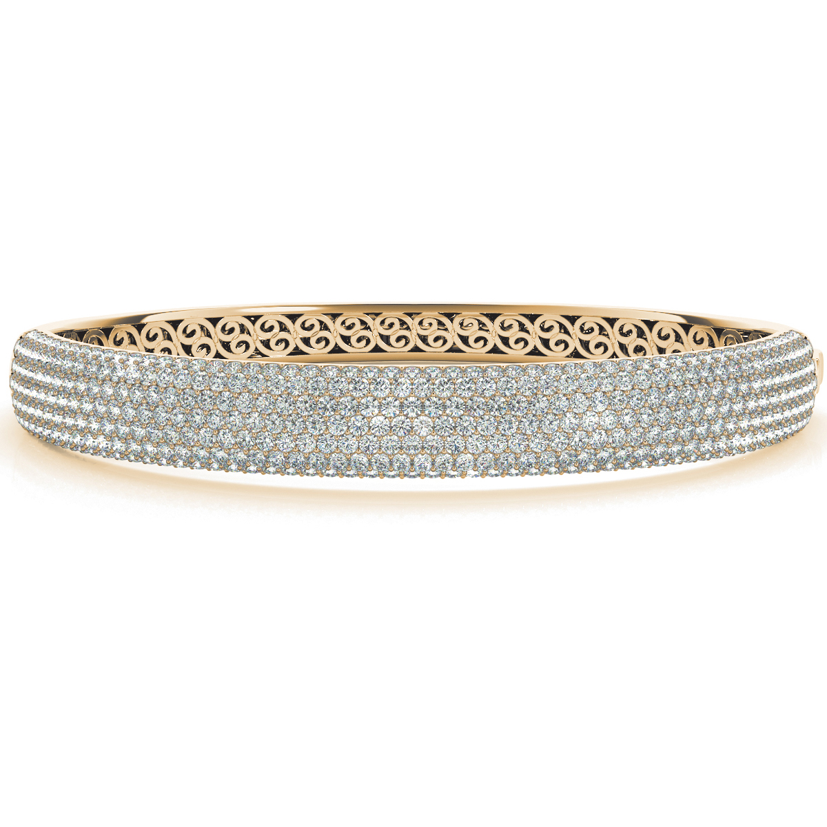 14k-yellow-gold-multi-row-bangles-and-bracelet-70012