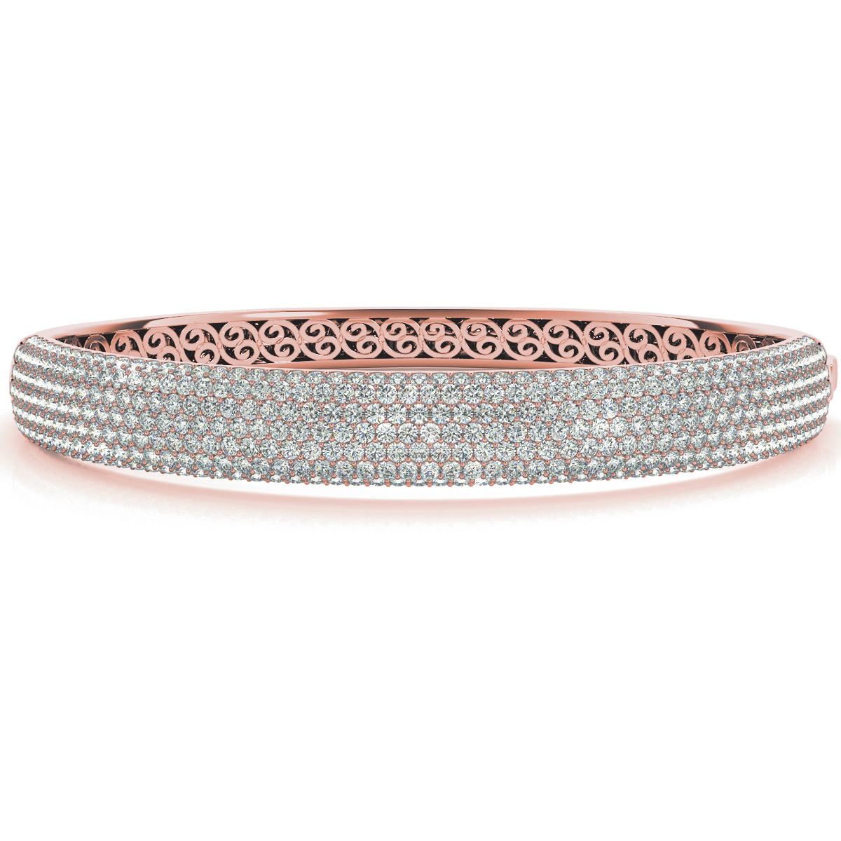 14k-rose-gold-multi-row-bangles-and-bracelet-70012