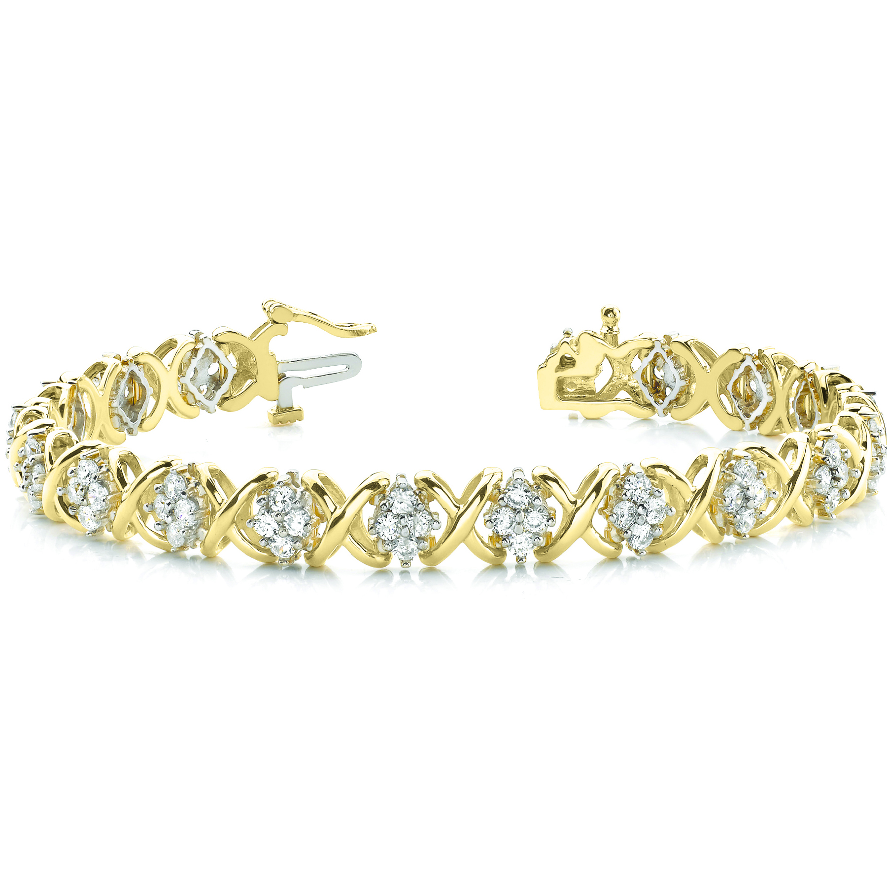18k-yellow-gold-fashion-diamond-bracelet-70014-1