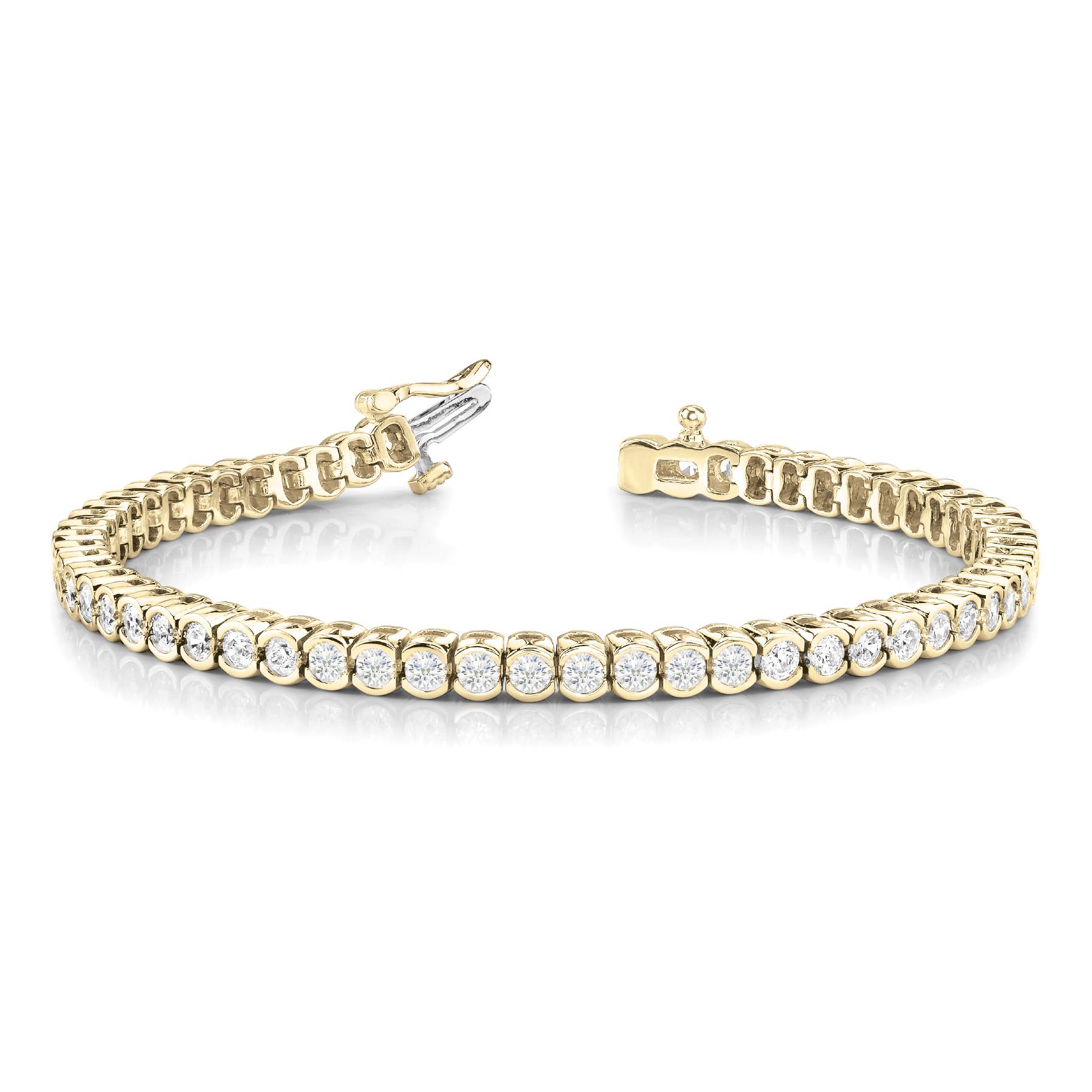 18k-yellow-gold-bezel-set-tennis-diamond-bracelet-70019-2
