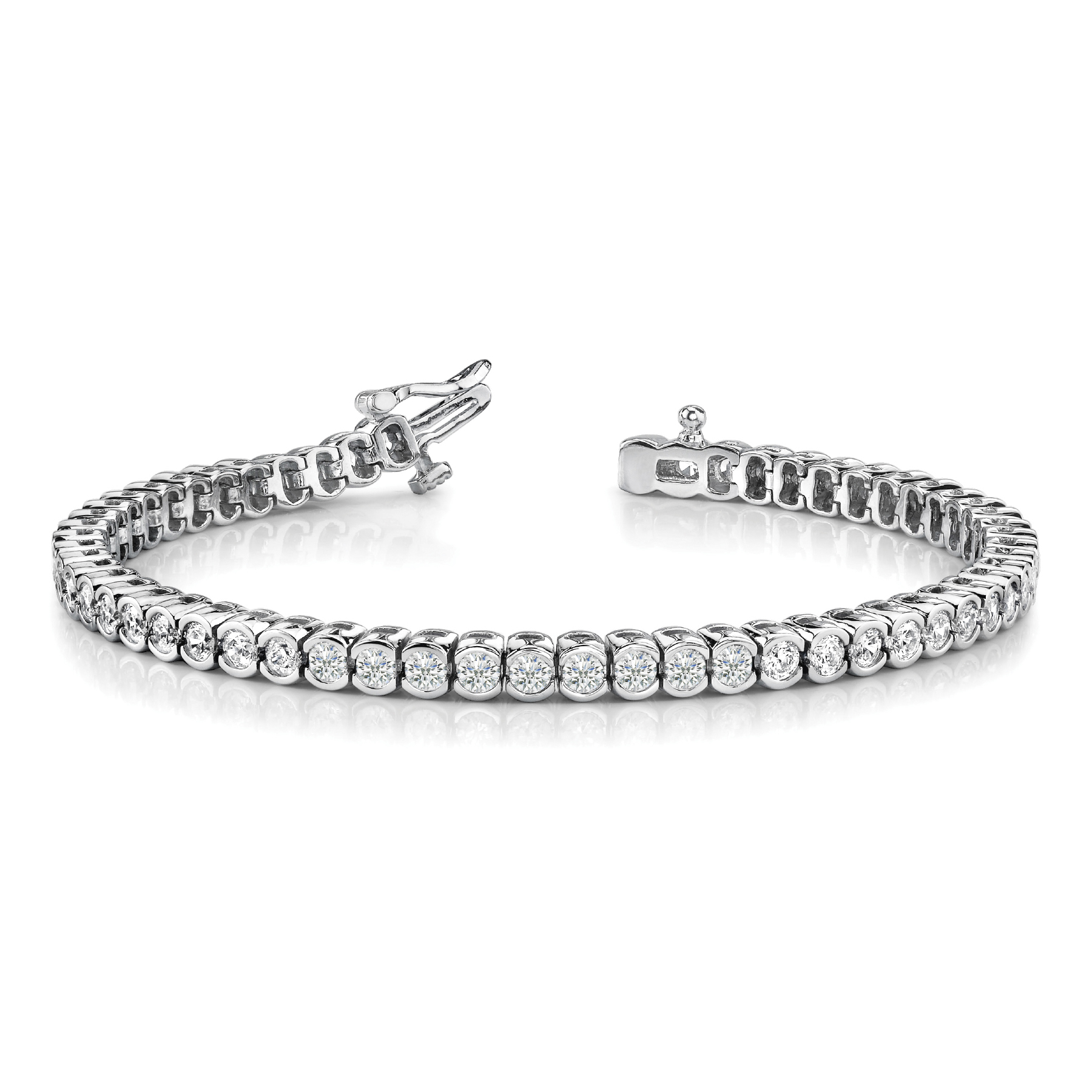 14k-white-gold-bezel-set-tennis-diamond-bracelet-70019-2