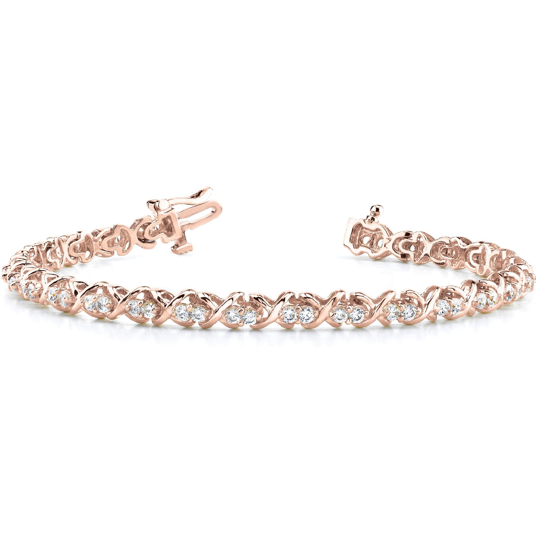 14k-rose-gold-xo-tennis-diamond-bracelet-70021-2