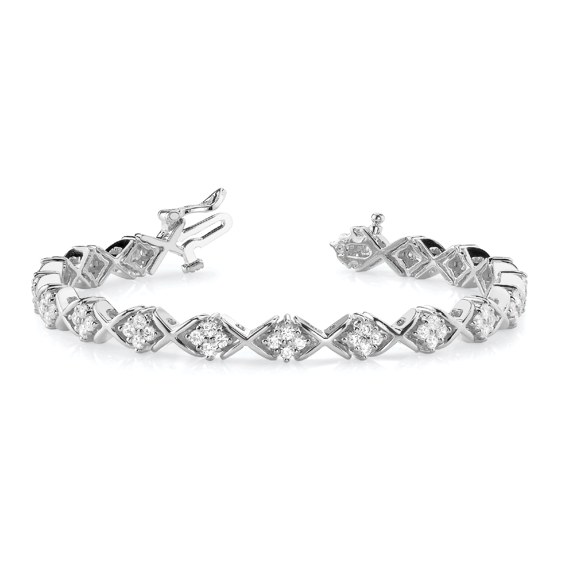 14k-white-gold-xo-tennis-diamond-bracelet-70044-2