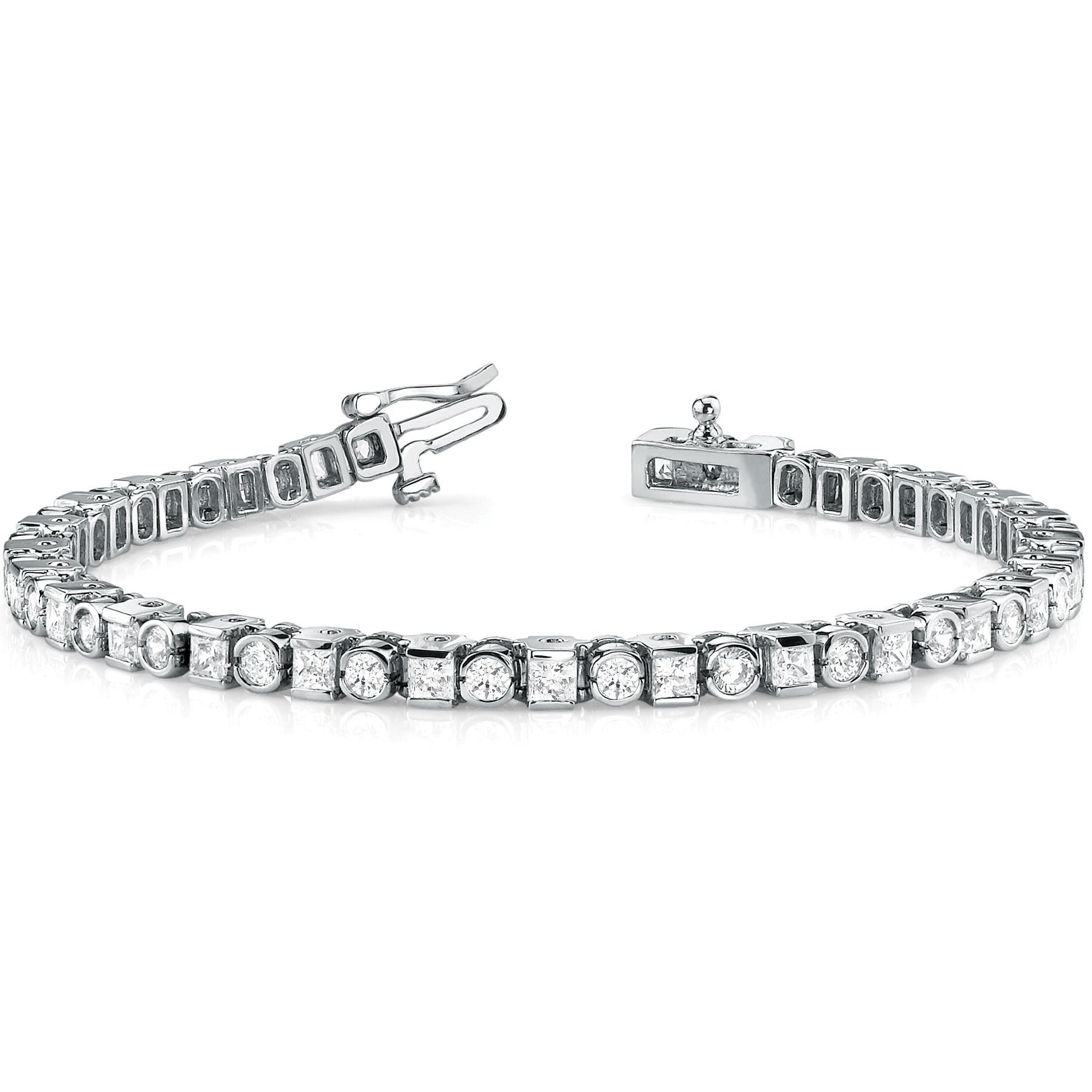 14k-white-gold-bezel-set-tennis-diamond-bracelet-70050-4