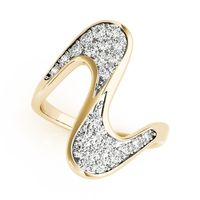 14K Yellow Gold Designer Diamond Engagement Ring