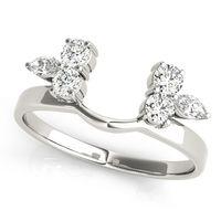 14K White Gold Wraps & Inserts Diamond Wedding Ring