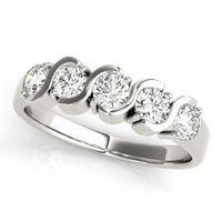 14K White Gold Infinity Diamond Wedding Ring