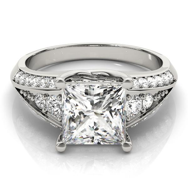 14k-white-gold-multirow-princess-shape-diamond-engagement-ring-83535-5-14K-White-Gold