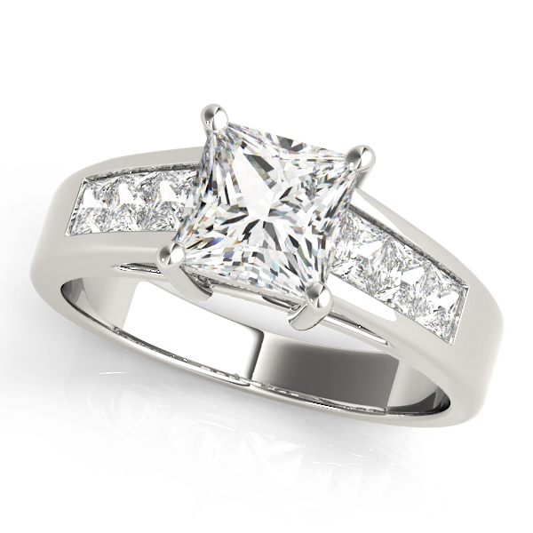 18k-white-gold-pave-princess-shape-diamond-engagement-ring-83606-18K-White-Gold