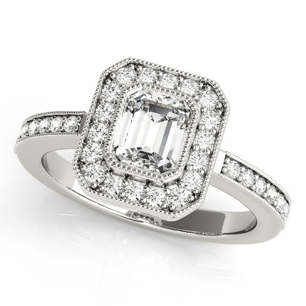 14k-white-gold-halo-emerald-shape-diamond-engagement-ring-83650-14K-White-Gold