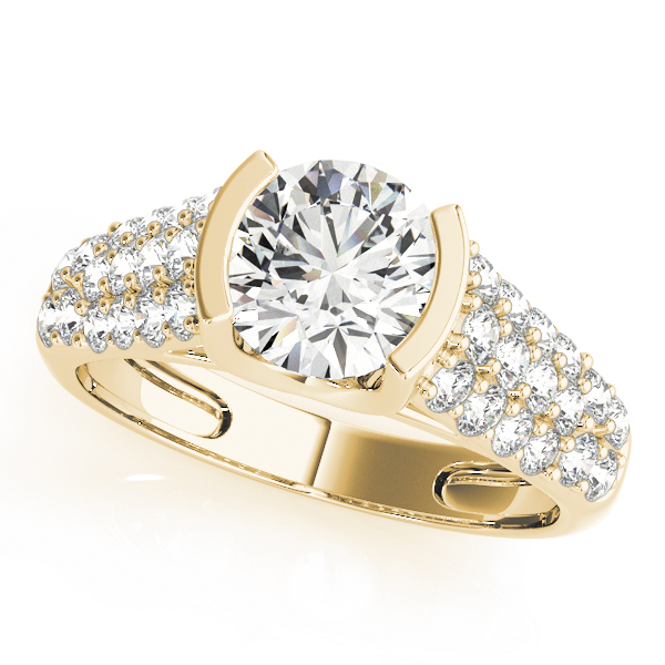 14k-yellow-gold-pave-round-shape-diamond-engagement-ring-83751-14K-Yellow-Gold