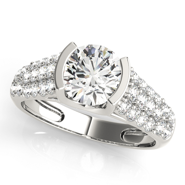 14k-white-gold-pave-round-shape-diamond-engagement-ring-83751-14K-White-Gold