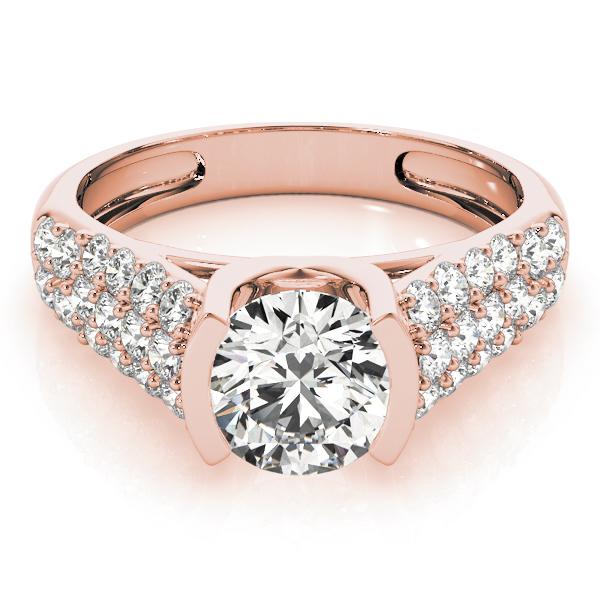 14k-rose-gold-pave-round-shape-diamond-engagement-ring-83751-14K-Rose-Gold