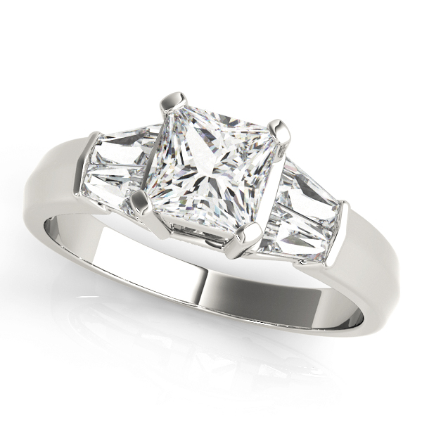 14k-white-gold-pave-princess-shape-diamond-engagement-ring-83768-14K-White-Gold