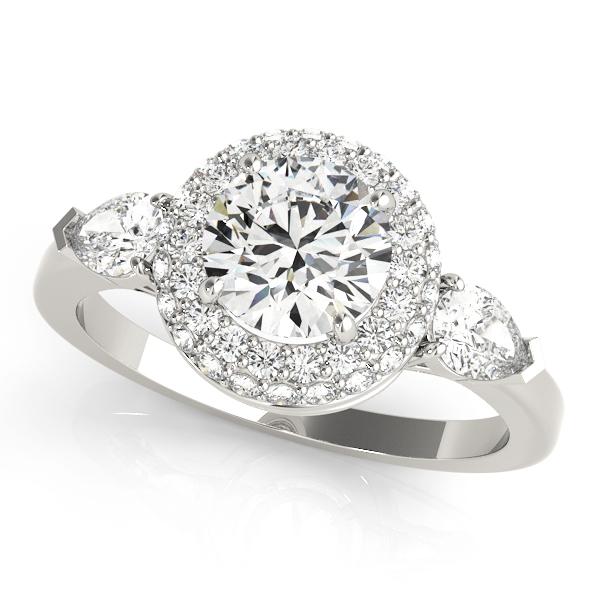 14k-white-gold-halo-round-shape-diamond-engagement-ring-84118-14K-White-Gold