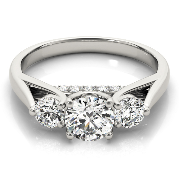 14k-white-gold-three-stone-round-shape-diamond-engagement-ring-84124-14K-White-Gold