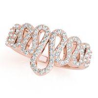 14K Rose Gold Designer Diamond Fashion Ring