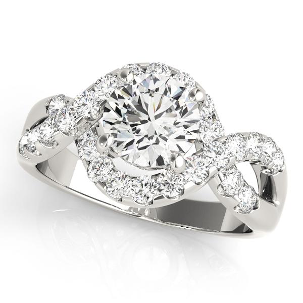 14k-white-gold-multirow-round-shape-diamond-engagement-ring-84182-14K-White-Gold