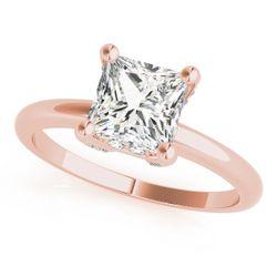 14K Rose Gold Solitaire Princess Shape Diamond Engagement Ring
