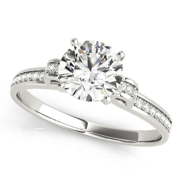 14k-white-gold-single-row-round-shape-diamond-engagement-ring-84252-14K-White-Gold
