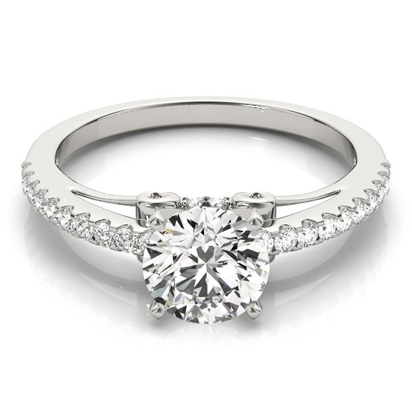 14k-white-gold-single-row-round-shape-diamond-engagement-ring-84254-14K-White-Gold