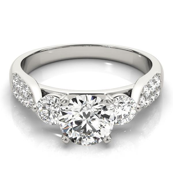 14k-white-gold-three-stone-round-shape-diamond-engagement-ring-84255-14K-White-Gold