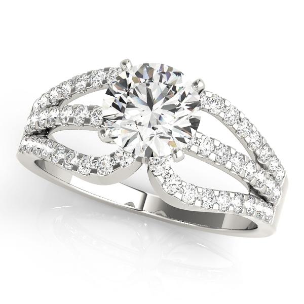 14k-white-gold-multirow-round-shape-diamond-engagement-ring-84257-14K-White-Gold