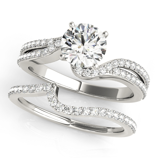 14k-white-gold-multirow-round-shape-diamond-engagement-ring-84262-14K-White-Gold