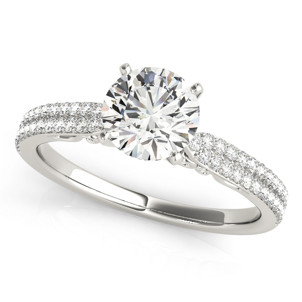 14k-white-gold-pave-round-shape-diamond-engagement-ring-84271-14K-White-Gold