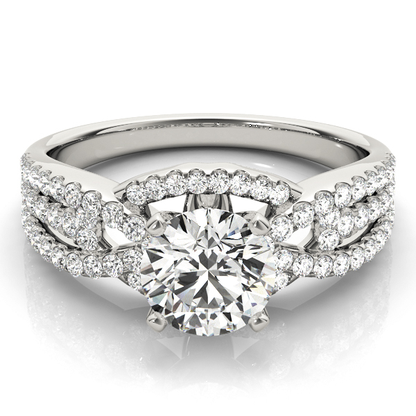 14k-white-gold-multirow-round-shape-diamond-engagement-ring-84278-14K-White-Gold