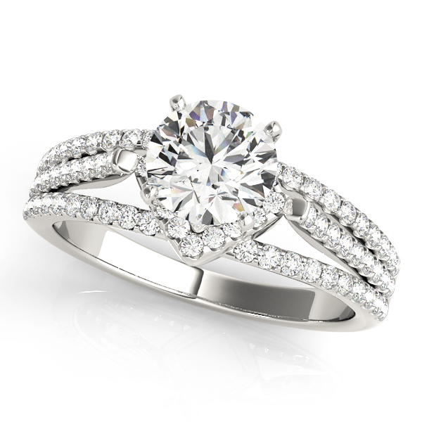 14k-white-gold-multirow-round-shape-diamond-engagement-ring-84279-14K-White-Gold